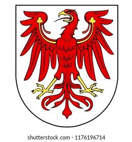 German federal state Brandenburg coat of arms.