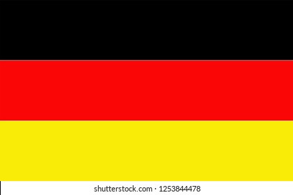German flag black red and gold