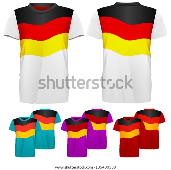 German Flag Design Template Tshirts Front Stock Vector (Royalty Free