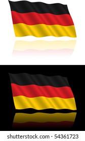 German Flag Flowing