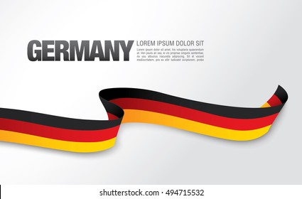 German flag on a white background