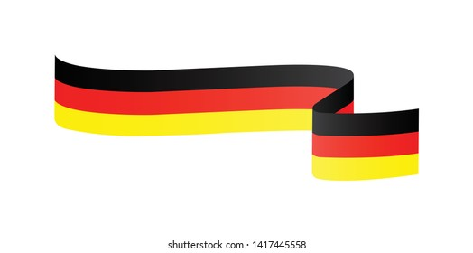 German flag. Simple vector German flag  with shadow