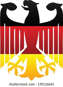 German Flag and Symbol Combination