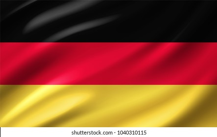 German Flag in Vector Illustration
