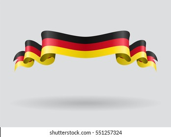 German flag wavy abstract background. Vector illustration.