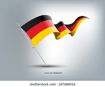 German flying flag in isolated background