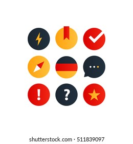 German language courses advertising concept. Fluent speaking foreign language. Lingual graphic elements. Flat design vector illustration