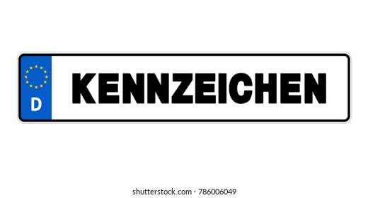 German Licence Plate - Vector Illustration