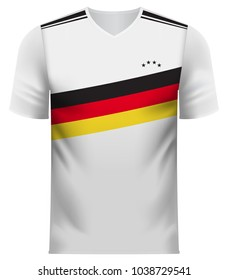 German national soccer team shirt in generic country colors for fan apparel.