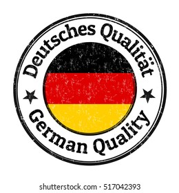 German quality grunge rubber stamp on white background, vector illustration