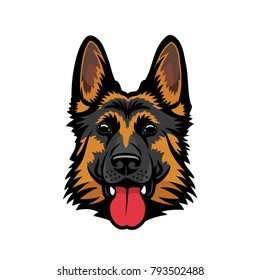 German Shepherd dog - isolated vector illustration