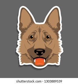 German shepherd dog K9 head portrait magnet/sticker/key chain idea