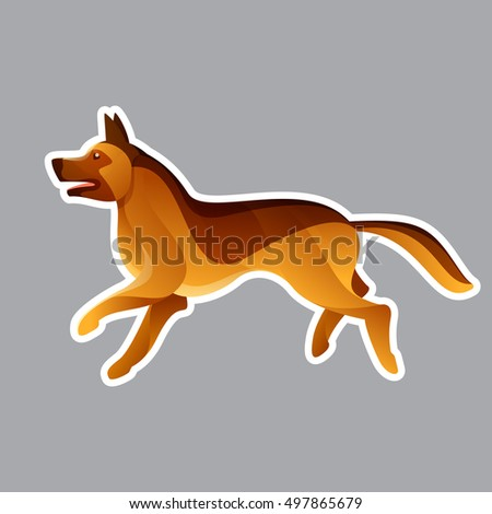 German Shepherd Dog Vector Character Animal Stock Vector Royalty