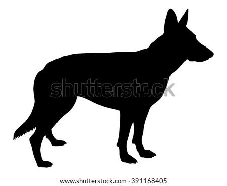 german shepherd silhouette stock vector royalty free 391168405