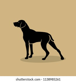 German shorthaired pointer - isolated vector illustration
