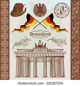 German Symbols Vintage Set
