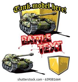 German tank destroyer logo design template