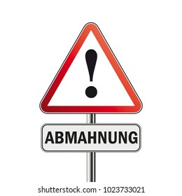 German text Abmahnung, translate Warning Letter. Eps 10 vector file.