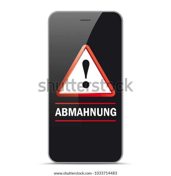 German Text Abmahnung Translate Warning Letter Stock Vector