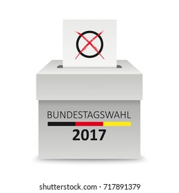 German Text Bundestagswahl 2017, translate parliamentary elections for the Bundestag 2017.  Eps 10 vector file.