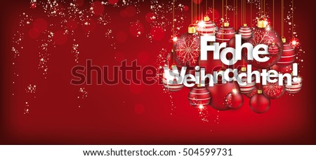 german text frohe weihnachten translate merry christmas eps 10 vector file