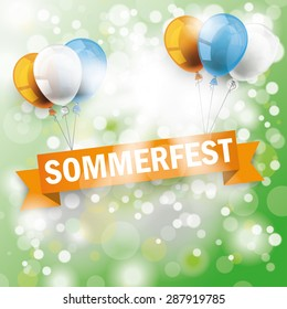 "German text ""Sommerfest"", translate ""Summerfest"". Eps 10 vector file."