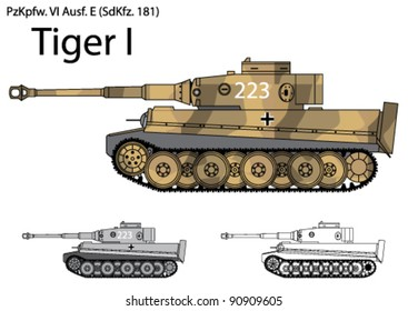 German Tiger I tank from the Second World War