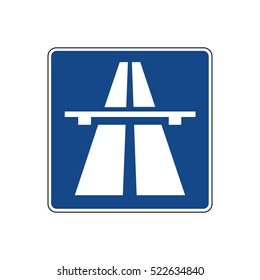 German traffic sign: Beginning of motorway/Autobahn, controlled-access highway