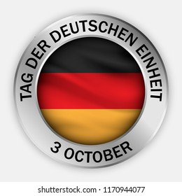 German unity day concept background. Realistic illustration of german unity day vector concept background for web design