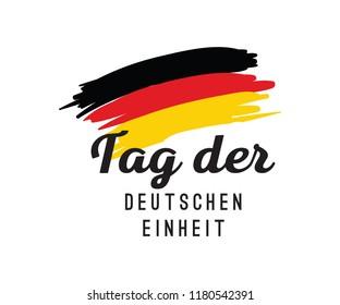 German Unity day - Tag der Deutschen Einheit. October 3rd. Typography vector design.