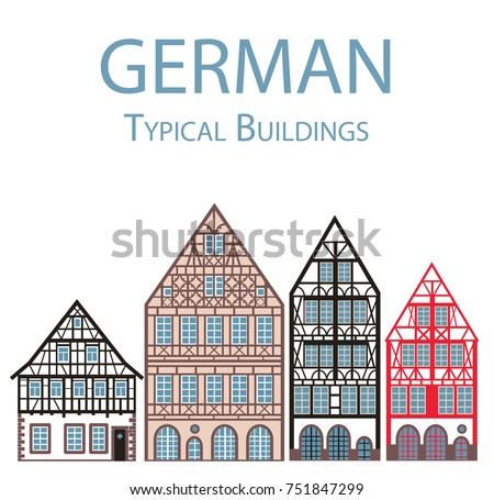 German Vector Illustration Flat Design Typical Stock Vector (Royalty ...