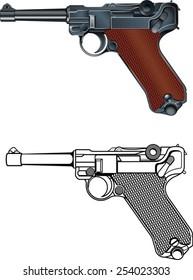 German world war military pistol