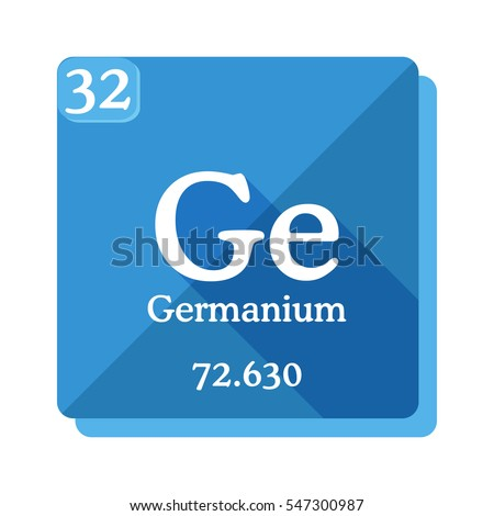 Germanium Ge Element Periodic Table Flat Stock Vector Royalty Free