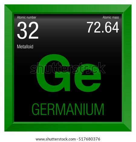 Germanium Symbol Element Number 32 Periodic Stock Vector Royalty