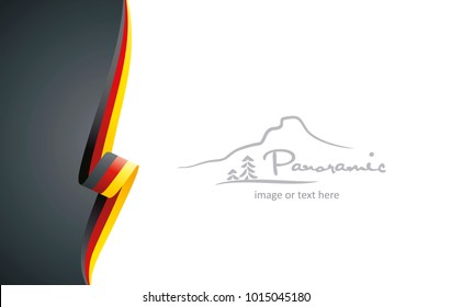 Germany abstract flag brochure cover poster wall mural background vector