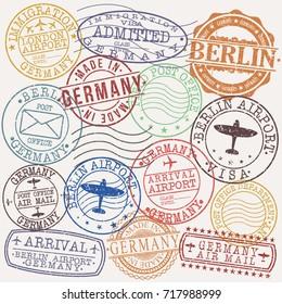 Germany Berlin Stamp Vector Art Symbol Design