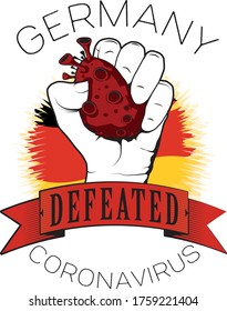 germany europe coronavirus vector defeated color flag fist