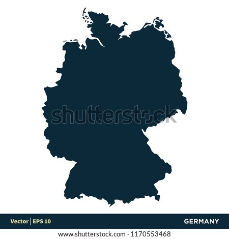 Germany Europe Countries Map Vector Icon Stock Vector Royalty Free
