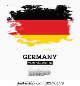 Germany Flag with Brush Strokes. Vector Illustration.