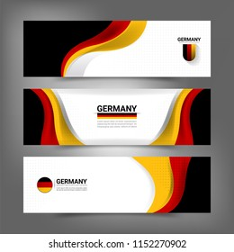 Germany flag color concept banner background for National Independence Day and other events, Vector illustration