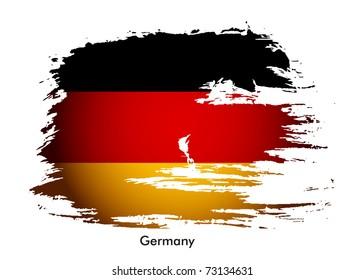 Germany flag grunge banner design, vector illustration.