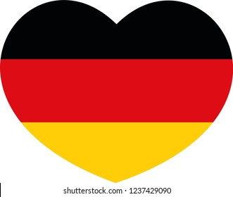Germany Flag in a heart, Germany Flag, German flag sticker, German flag vector, German celebration, German national celebration, country languages, language, world, Germany maps, sticker, eps 10