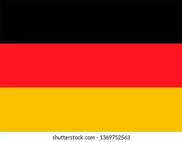 Germany flag isolated on white background. Vector illustration.