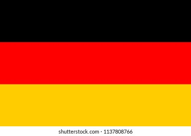 Germany flag, official colors and proportion correctly. National Germany flag. Vector illustration. EPS10. Empty Germany campaign button.
