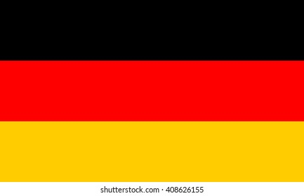 Germany flag, official colors and proportion correctly. National Germany flag. Vector illustration. EPS10.