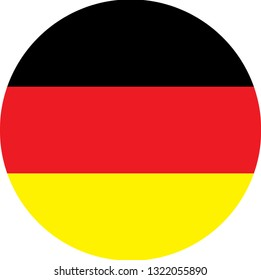 Germany flag. Simple vector round Germany flag