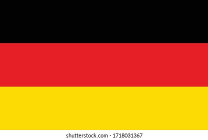 Germany flag vector graphic. Rectangle German flag illustration. Germany country flag is a symbol of freedom, patriotism and independence.