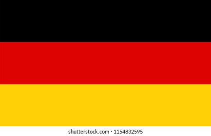 Germany flag vector icon, simple, flat design for web or mobile app