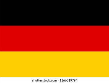 Germany flag vector illustration. Graphic design