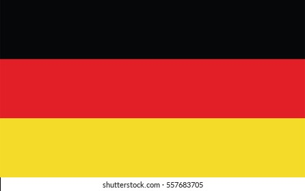 Germany Flag vector. national official colors.